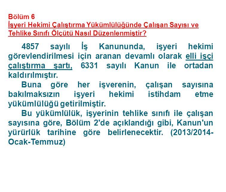 30.06.2012 tarih ve 28339 sayılı Resmi Gazete'de yayınlanan İş Sağlığı ve Güvenliği Kanunu, bir kısım hükümleri dışında 6 ay sonra yürürlüğe girmek üzere ilan edilmiştir.
