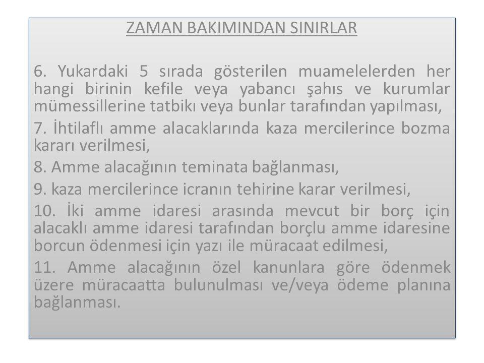ZAMAN BAKIMINDAN SINIRLAR 6.