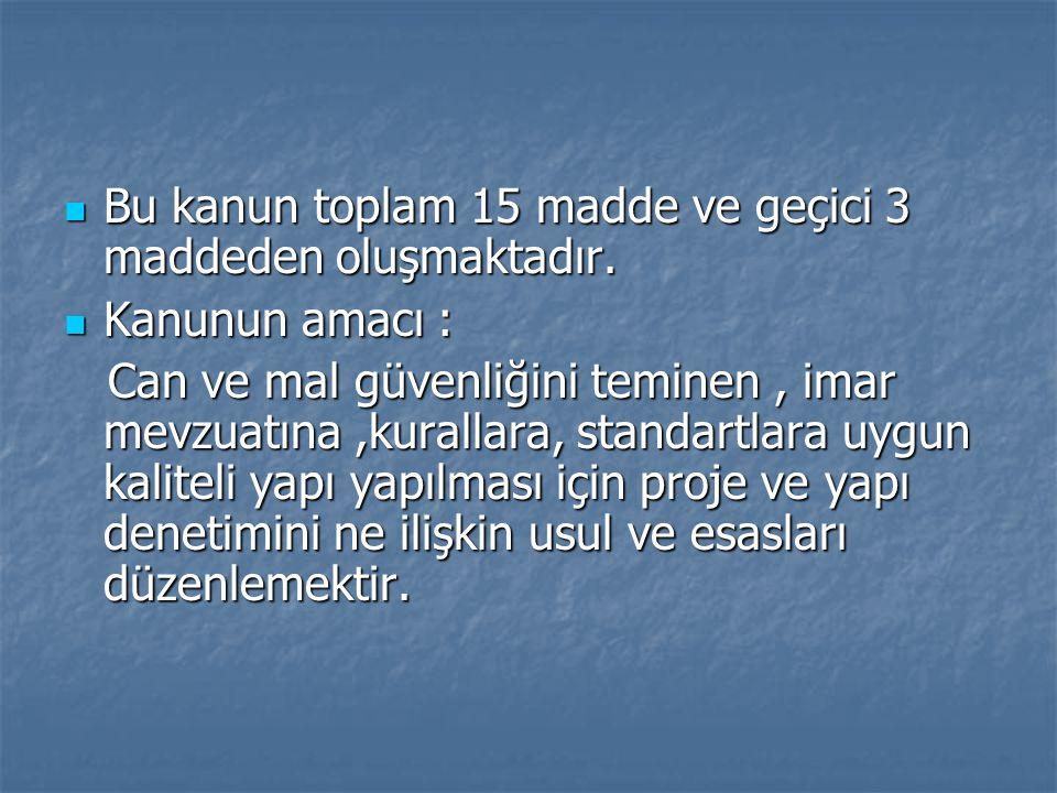 Kapsam :  İmar kanunun 26.