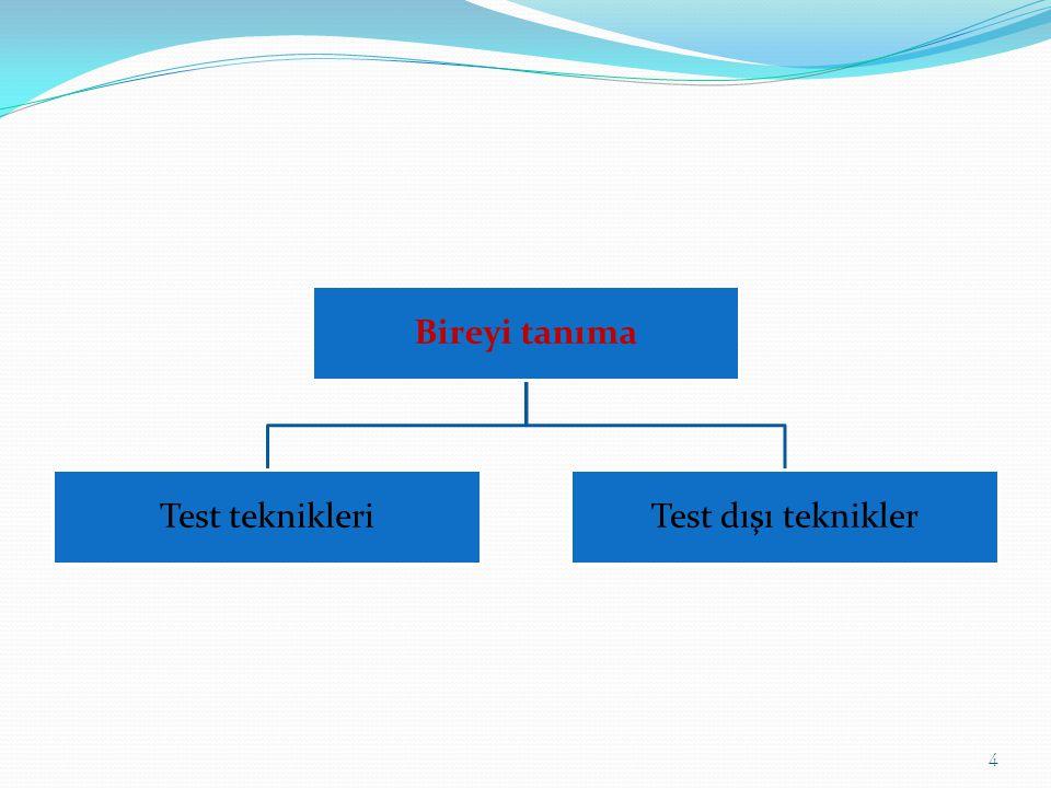 Bireyi tanıma Test teknikleriTest dışı teknikler 4