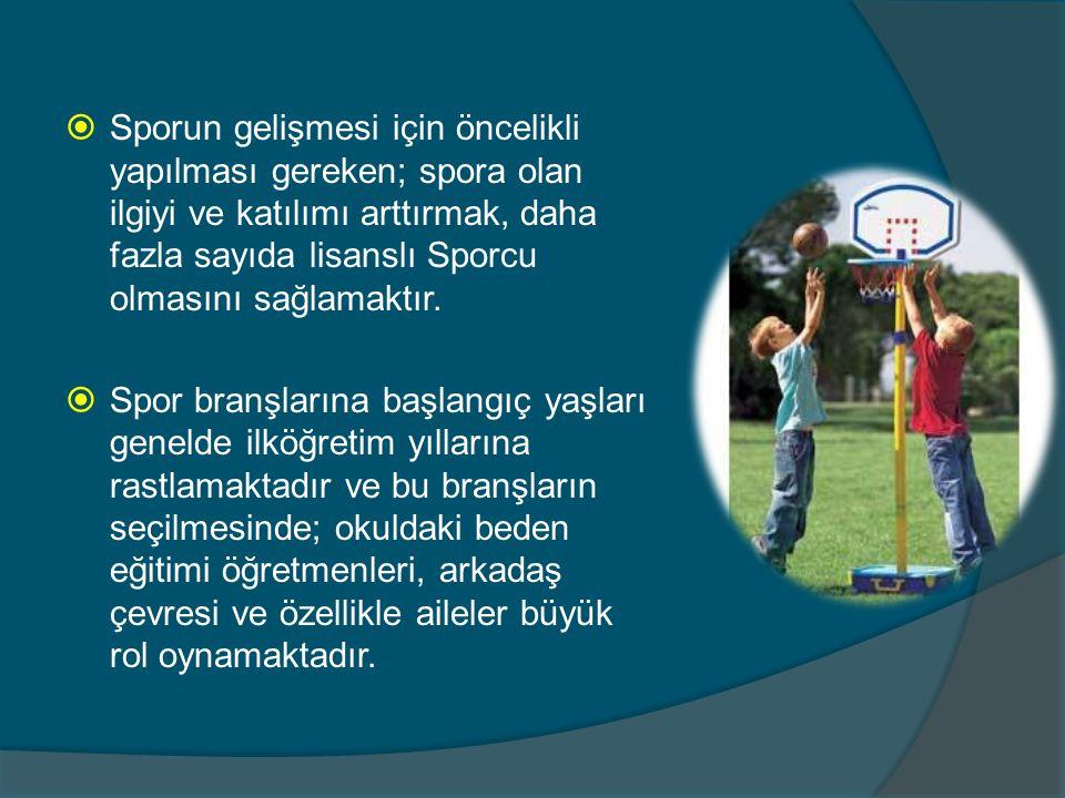  Çocuğun spora yönlenmesinde ailenin etkinliği tartışılmaz bir gerçektir.