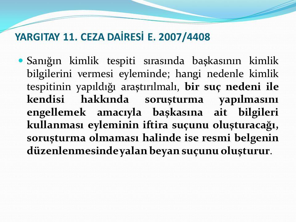 YARGITAY 11.CEZA DAİRESİ E.