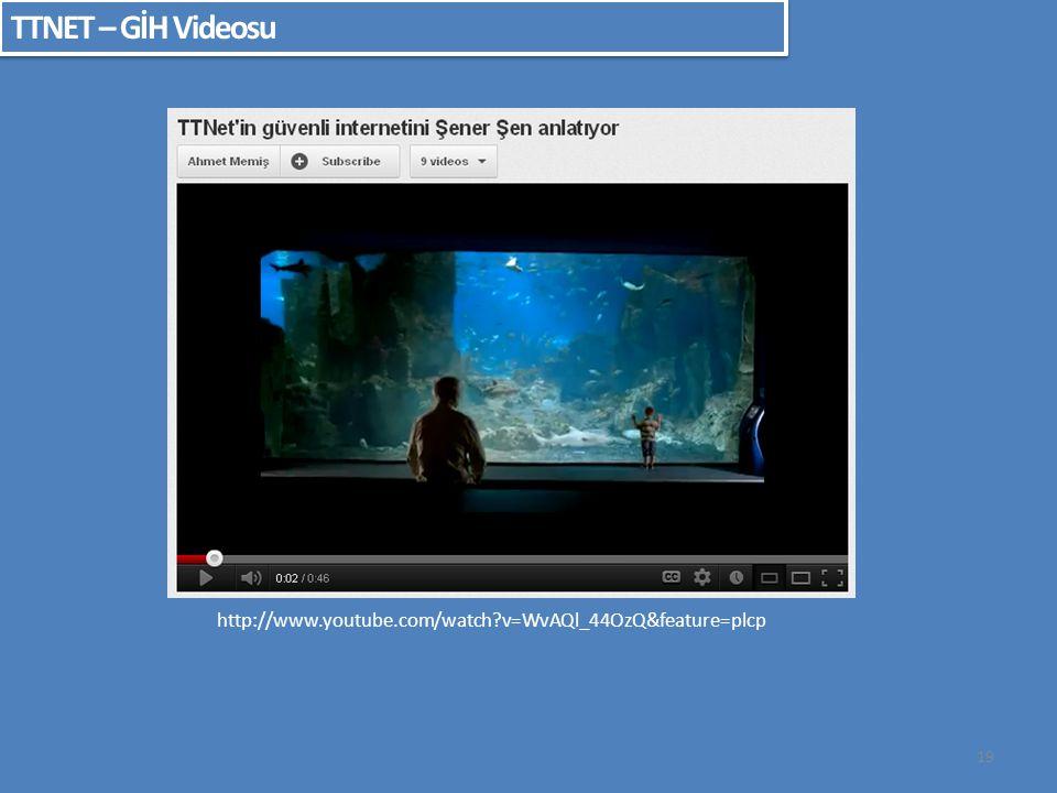 19 TTNET – GİH Videosu http://www.youtube.com/watch?v=WvAQl_44OzQ&feature=plcp