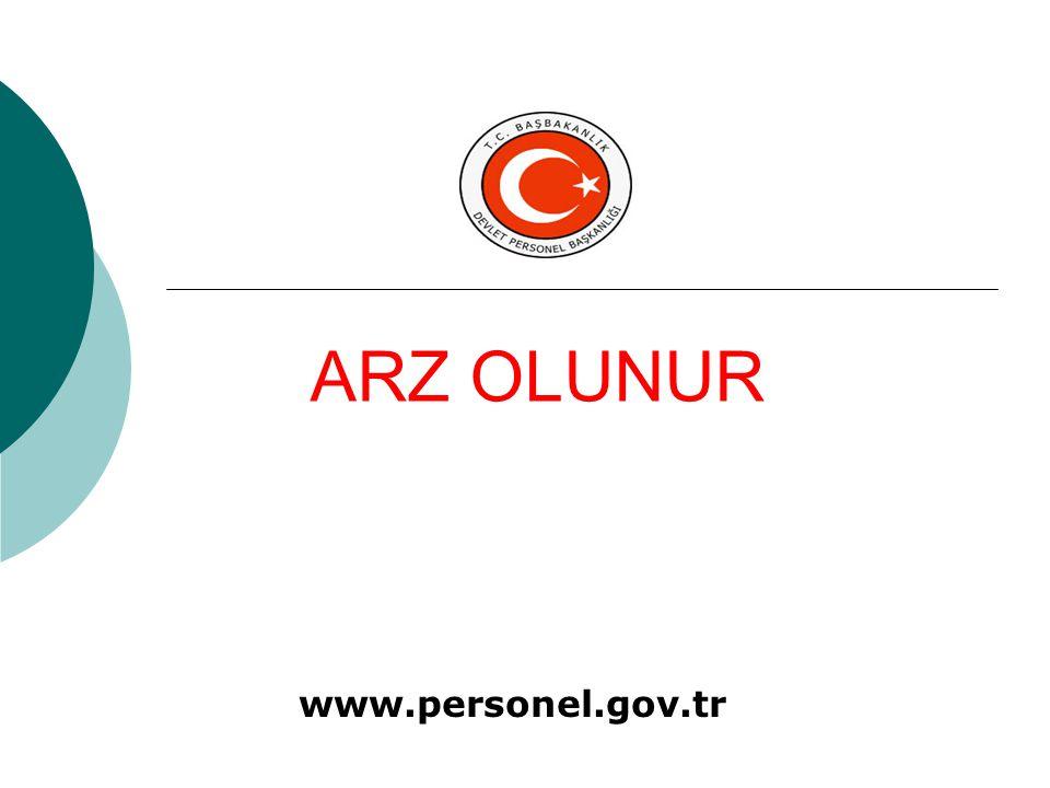 www.personel.gov.tr ARZ OLUNUR