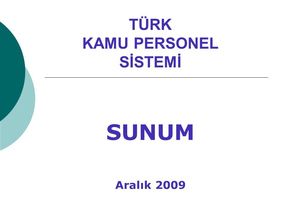TÜRK KAMU PERSONEL SİSTEMİ SUNUM Aralık 2009