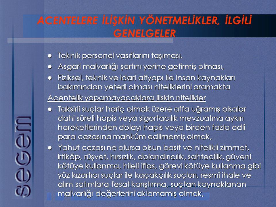  Teknik personel vasıflarını taşıması,  Asgari malvarlığı şartını yerine getirmiş olması,  Fiziksel, teknik ve idari altyapı ile insan kaynakları b