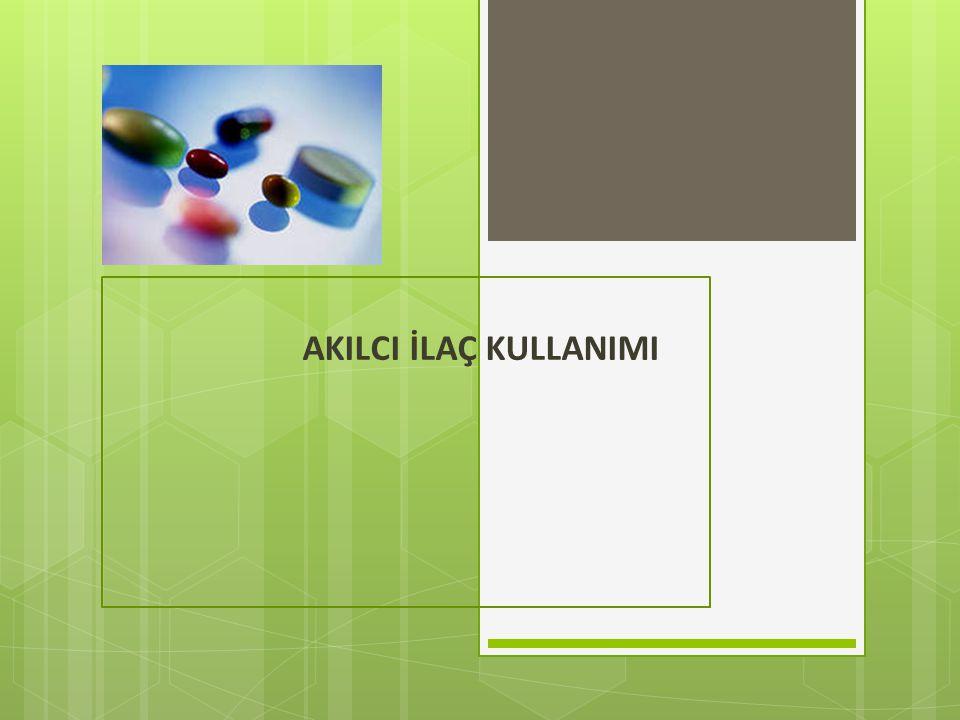ÜLKEMİZDE  Sağlık Bakanlığı bünyesinde, akılcı ilaç kullanımı ile ilgili çalışmalar, yaklaşık 20 yıldır sürmektedir.