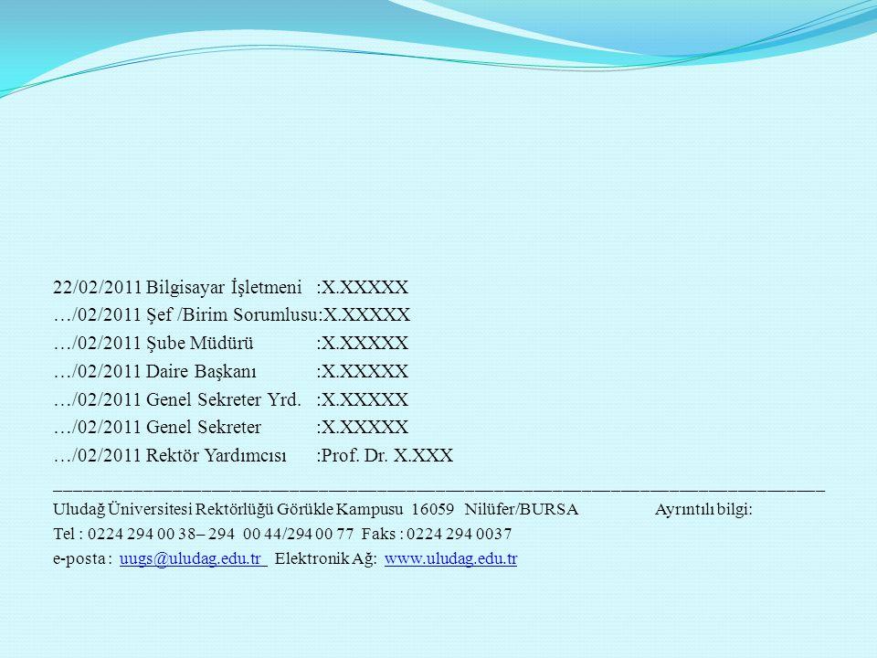 _______________________________________________________ Uludağ Üniversitesi Rektörlüğü Görükle Kampusu 16059 Nilüfer/BURSA Ayrıntılı bilgi: Tel : 0224