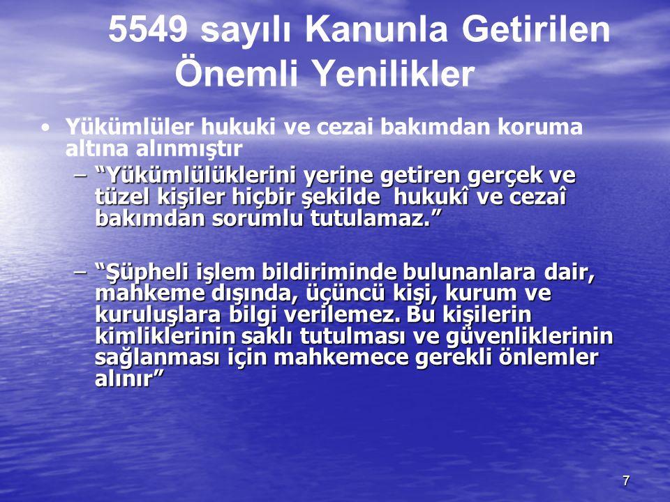 6 TEMEL FARKLAR Yükümlülük ihlallerinin Yaptırımı • •4208 sayılı Kanunda ; yükümlülük ihlalleri için 6 aydan bir yıla kadar hapis ve 12 milyon liradan
