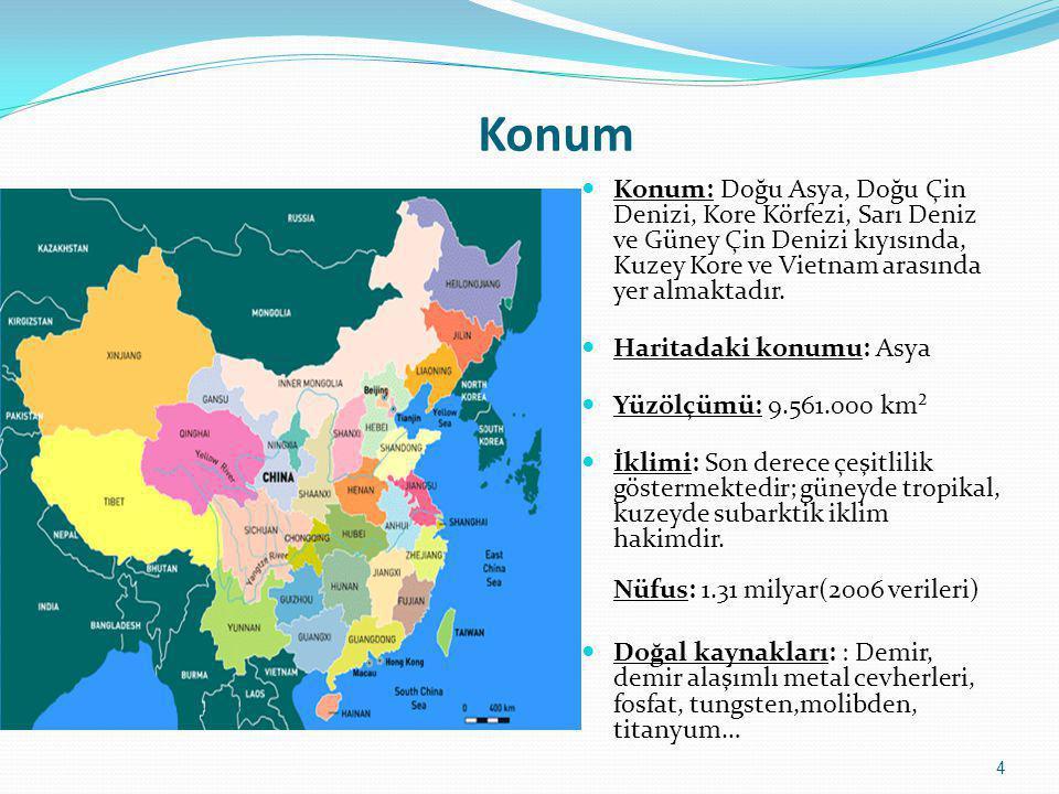 Konum  Konum: Doğu Asya, Doğu Çin Denizi, Kore Körfezi, Sarı Deniz ve Güney Çin Denizi kıyısında, Kuzey Kore ve Vietnam arasında yer almaktadır.  Ha