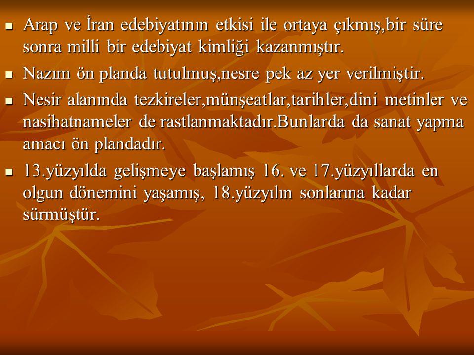  2)Nabi: (1642-1712)Urfalı Yusuf Nabi 24 yaşlarında İstanbul'a gelmiş,saray çevresinde değişik görevlerde bulunmuştur.Yanında çalıştığı Mustafa Paşa ölünce Halep'e gitmiştir.25 yıl kadar Halep'de kalan Nabi, Hayriyye'yi ve Hayrabad'ı Halep'te yazmış Divanını orada düzenlemiştir.