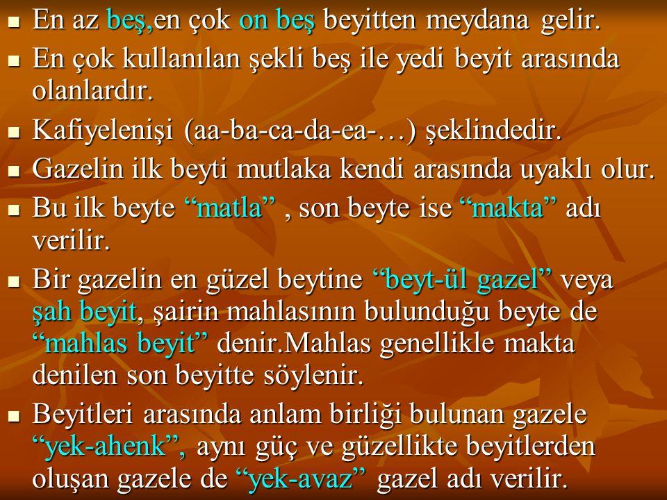  2)Zatî: 1471'de Balıkesir'de doğmuş 1546'da İstanbul'da ölmüştür.2.Bayezıt döneminde İstanbul'a gelen Zatî gerek bu padişah gerekse Yavuz Sultan Selim ve Kanuni Sultan Süleyman zamanında devlet büyüklerine yazdığı kasidelerle geçinmiştir.