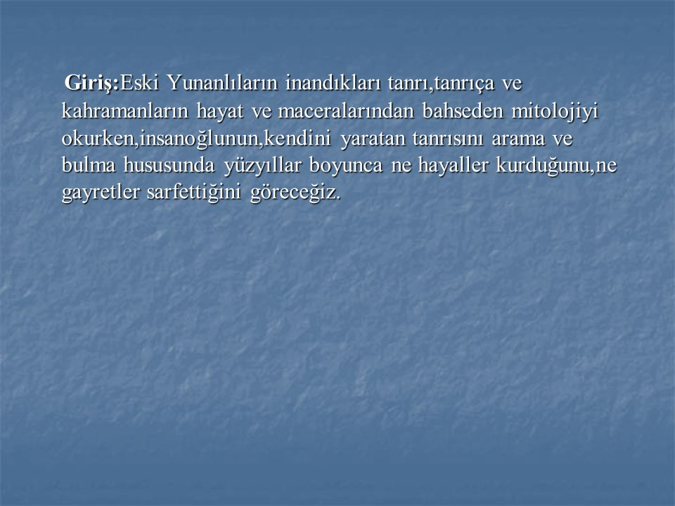 MİTOLOJİ Mitoloji nedir.