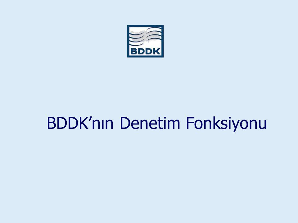 BDDK'nın Denetim Fonksiyonu