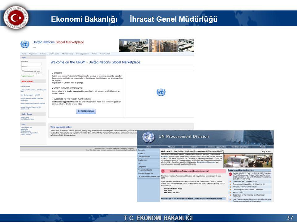 T. C. EKONOMİ BAKANLIĞI 37 Ekonomi Bakanlığı İhracat Genel Müdürlüğü