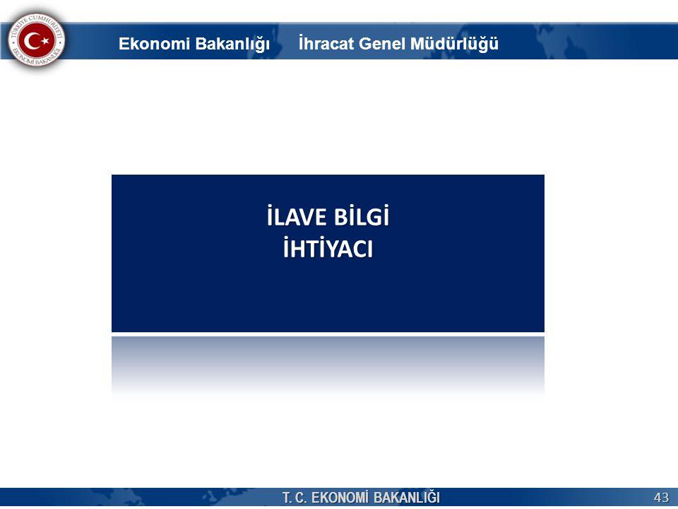 T. C. EKONOMİ BAKANLIĞI 43 Ekonomi Bakanlığı İhracat Genel Müdürlüğü