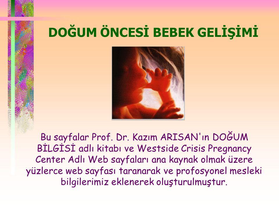  Uterus gebelik esnasında kitlesel olarak yaklaşık 20 kat büyür.