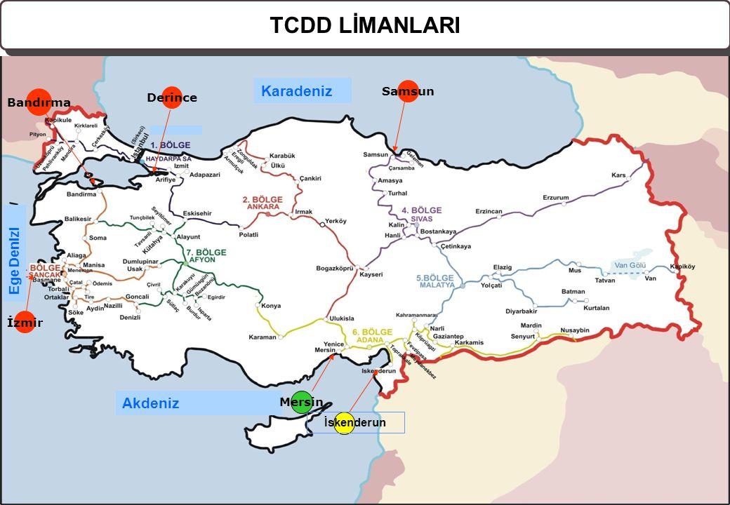 2008, © Her Hakkı Saklıdır. www.oib.gov.tr www.oib.gov.tr Karadeniz Akdeniz Ege Denizi Samsun Derince Bandırma İzmir İskenderun TCDD LİMANLARI Mersin