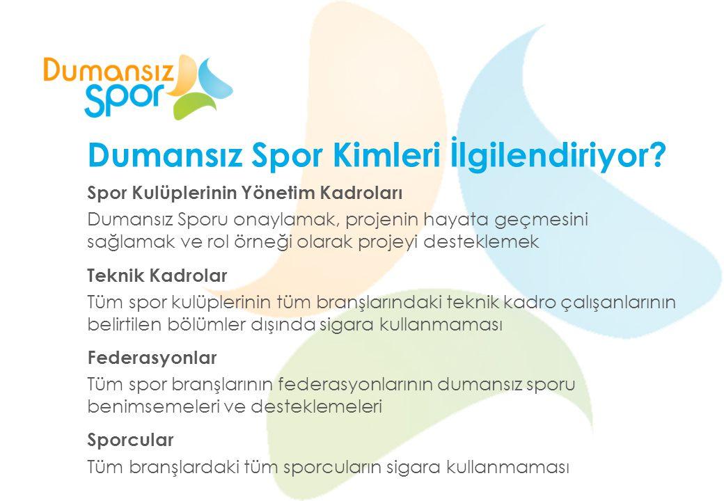 Dumansız Spor'u Destekliyorum, Statlarda Duman İstemiyorum diyorsanız: www.dumansizspor.org