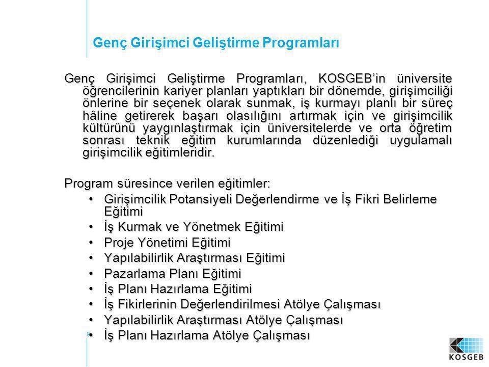 30 Kadın Girişimciliğin Desteklenmesi Projesi Teknik Yardım - Yapılanlar: •AB Türkiye Delegasyonu, Merkezi Finans ve İhale Birimi, DPT, Kadının Statüsü Genel Müdürlüğü, TOBB, KOSGEB, TESK ve Euroconsultants SA Konsorsiyumunun katılımı ile Proje Yönlendirme Kurulu toplantısı yapılmış olup, genel olarak proje faaliyetleri gözden geçirilmiştir.