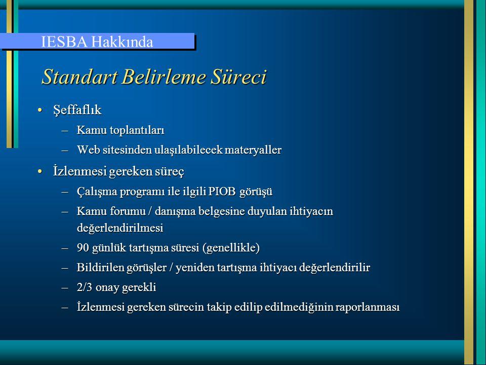 Etik Kuralları •Bölüm A – çerçeve tüm muhasebe meslek mensupları için geçerli •Bölüm B – kamu uygulamasındaki muhasebe meslek mensupları •Bölüm C – ticaretteki muhasebe meslek mensupları