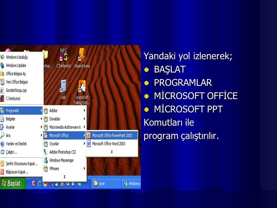 MMMMicrosoft power point ile birlikte slayt gösterilerinde kullanılmak üzere,görsel işitsel olarak sunu tasarımı gerçekleştirilir.