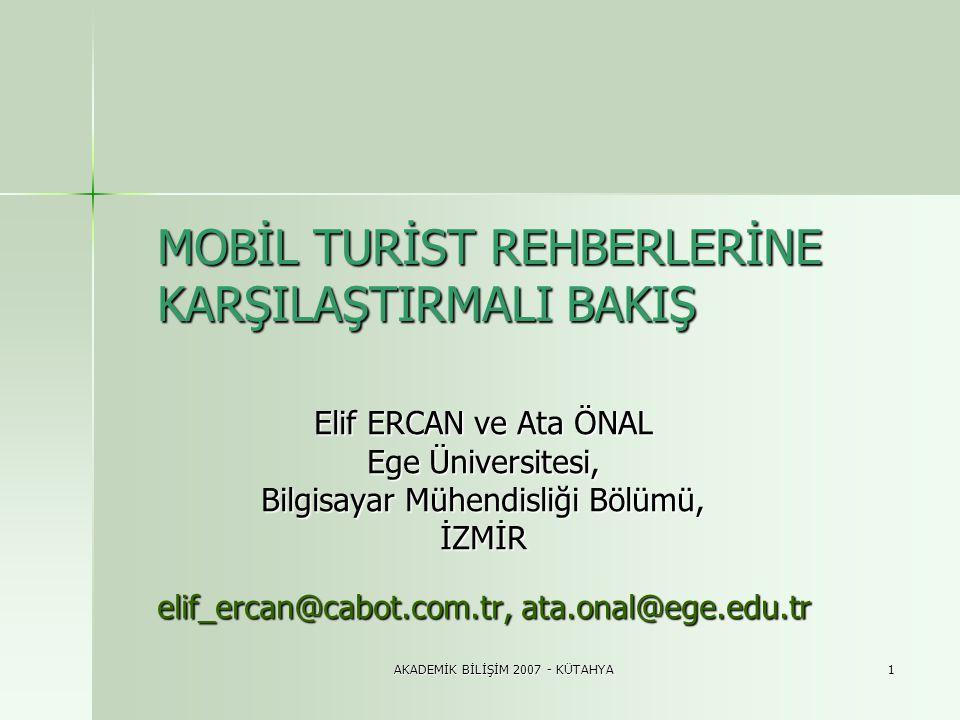 AKADEMİK BİLİŞİM 2007 - KÜTAHYA12 3.2.