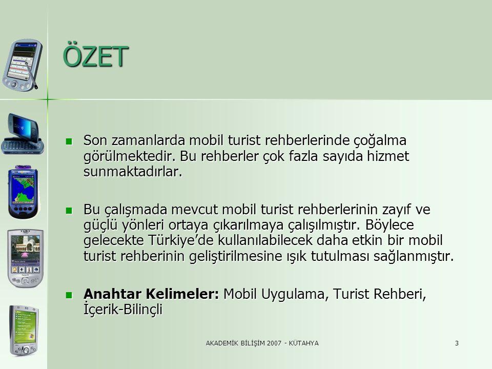 AKADEMİK BİLİŞİM 2007 - KÜTAHYA14 3.4.