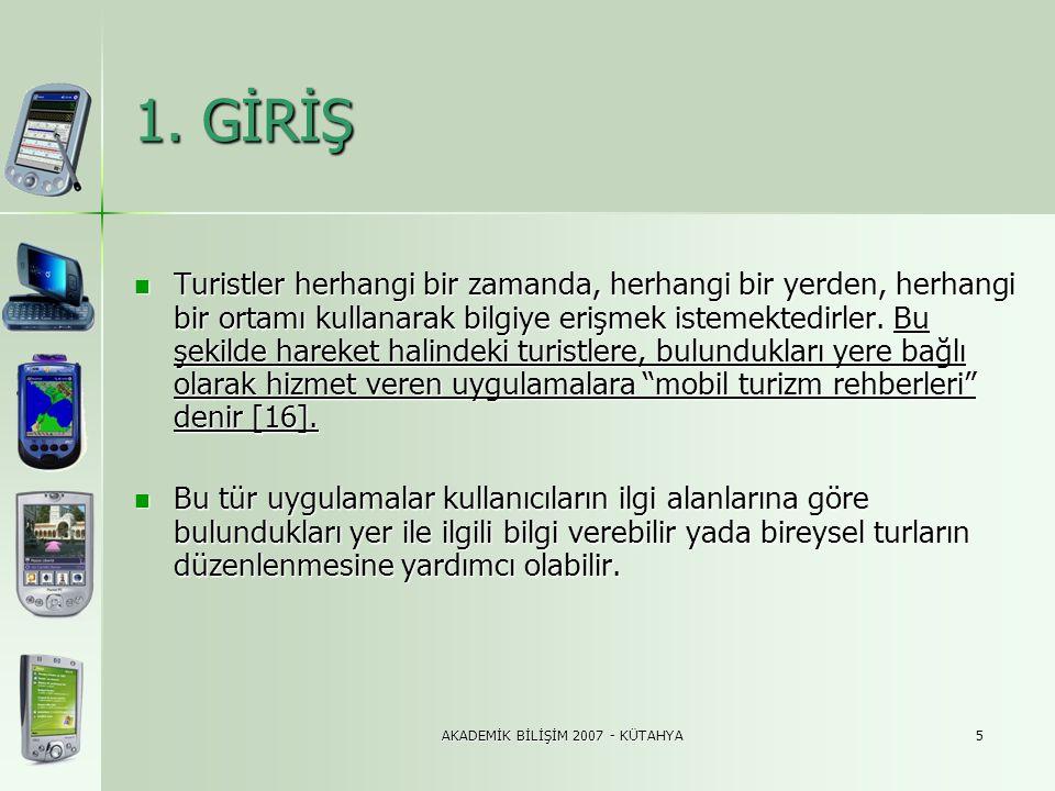AKADEMİK BİLİŞİM 2007 - KÜTAHYA16 3.5.