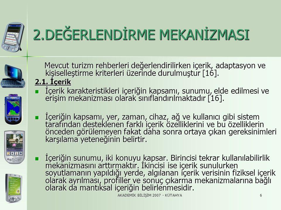 AKADEMİK BİLİŞİM 2007 - KÜTAHYA27 4.