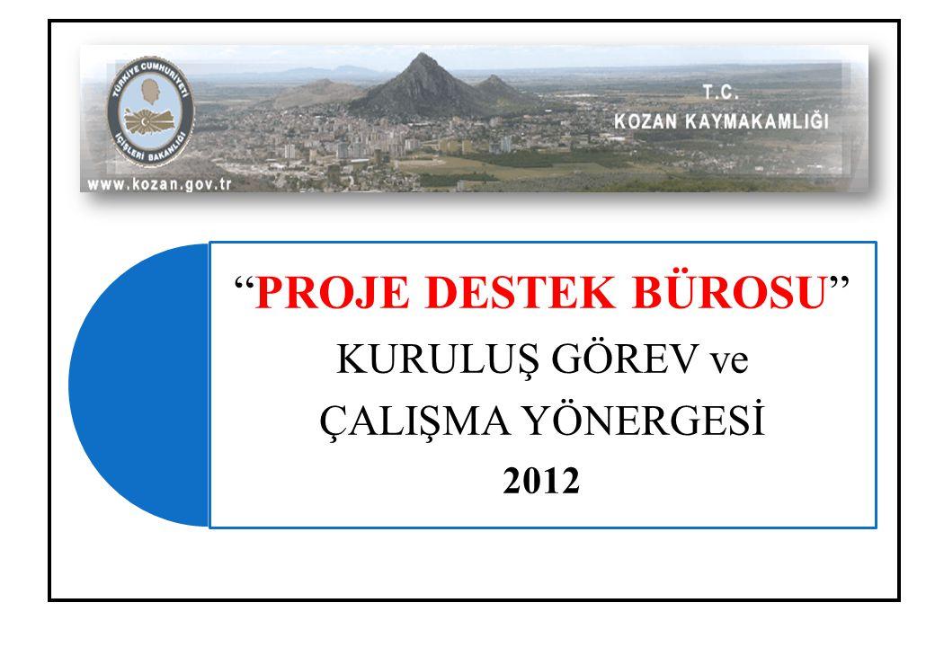 PROJE DESTEK BÜROSU KURULUŞ GÖREV ve ÇALIŞMA YÖNERGESİ 2012