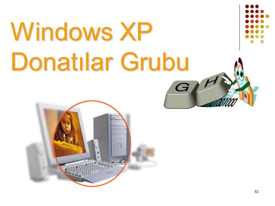 Windows XP Donatılar Grubu 62