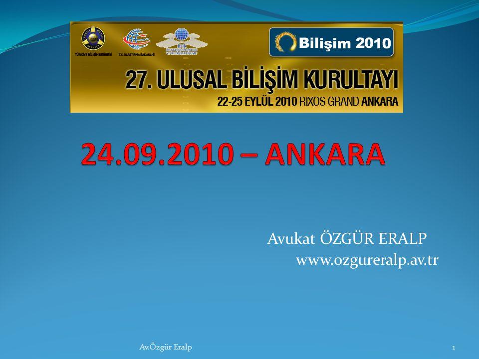 Avukat ÖZGÜR ERALP www.ozgureralp.av.tr 1Av.Özgür Eralp