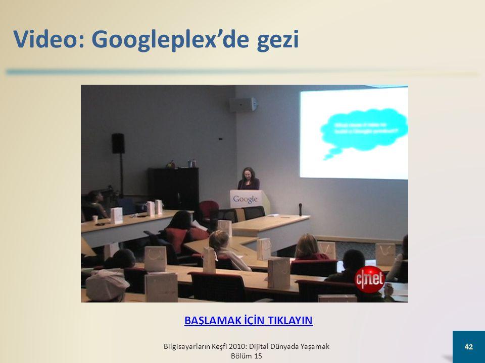 Video: Googleplex'de gezi Bilgisayarların Keşfi 2010: Dijital Dünyada Yaşamak Bölüm 15 42 BAŞLAMAK İÇİN TIKLAYIN