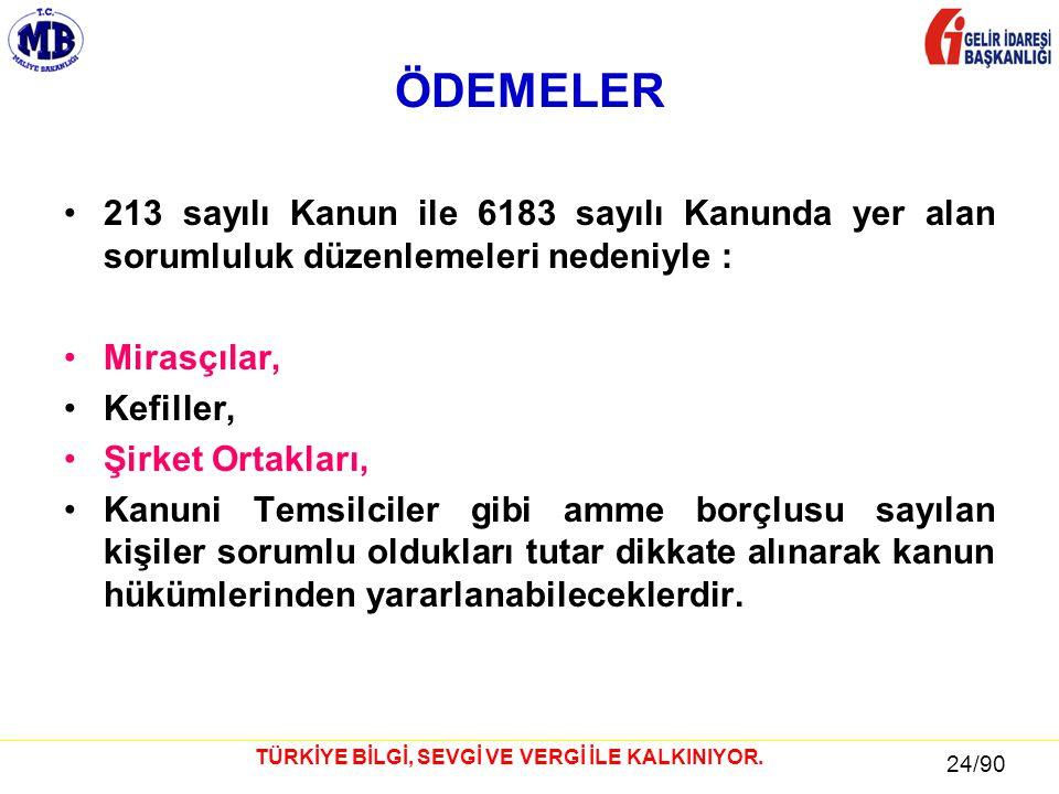 24 / 81 24/90 TÜRKİYE BİLGİ, SEVGİ VE VERGİ İLE KALKINIYOR.