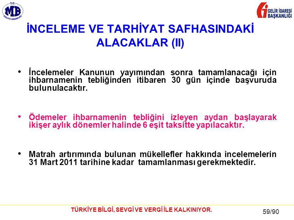 59 / 81 59/90 TÜRKİYE BİLGİ, SEVGİ VE VERGİ İLE KALKINIYOR.