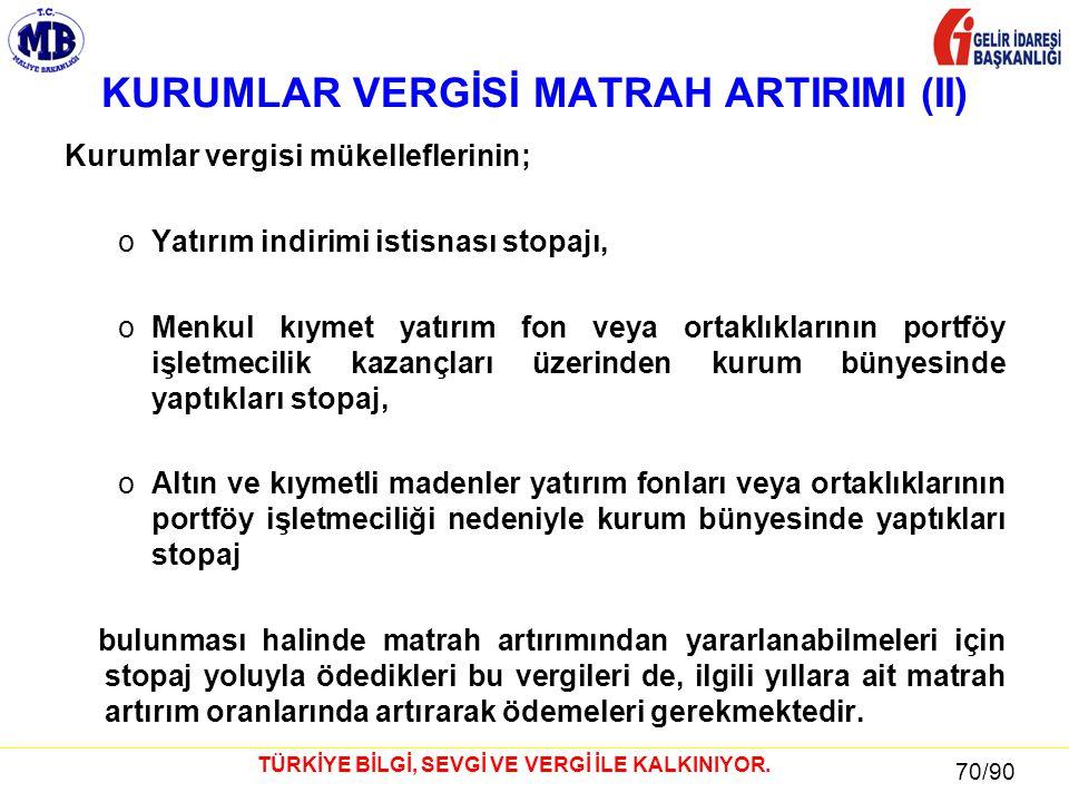 70 / 81 70/90 TÜRKİYE BİLGİ, SEVGİ VE VERGİ İLE KALKINIYOR.