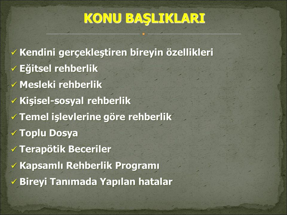 KAPSAMLI REHBERLİK PROGRAMI  Programlar hazırlanırken,okul rehber öğretmenlerinin rolü ve görevlerinden çok programın içeriği üzerinde odaklanılmıştır.