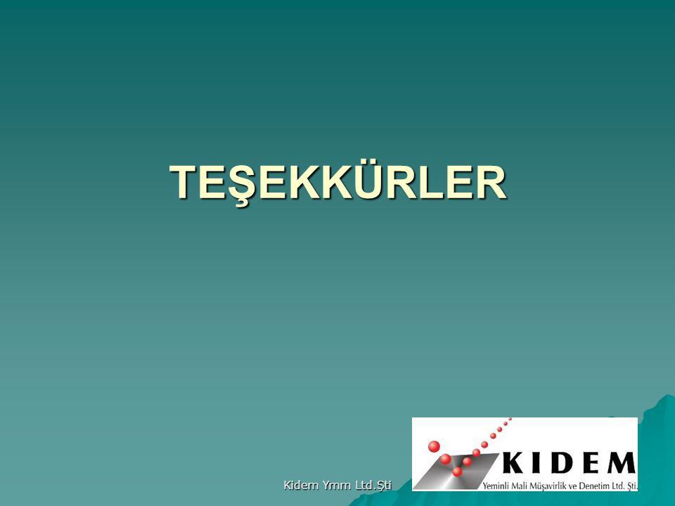 Kidem Ymm Ltd.Şti 51 TEŞEKKÜRLER