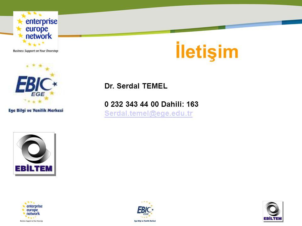 İletişim Dr. Serdal TEMEL 0 232 343 44 00 Dahili: 163 Serdal.temel@ege.edu.tr