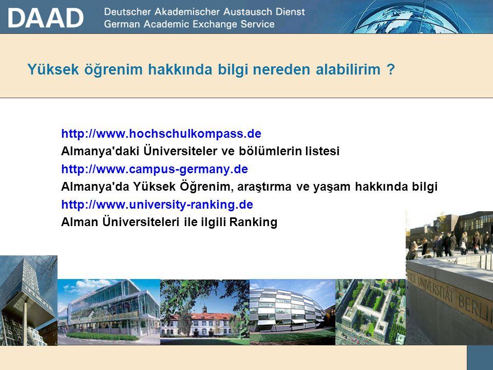 Almanya'daki tüm dünya ülkerlerden gelen öğrenciler Quelle: Stat. Bundesamt & hrk 2008/09
