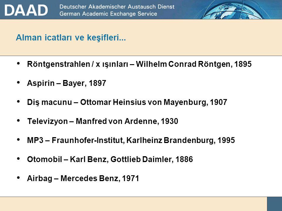 Study and Research in Germany Almanya'da Yüksek Öğrenim ve Araştırma Karin Schmidt DAAD - Alman Akademik Değişim Servisi Izmir Ekonomi Üniversitesi, 1