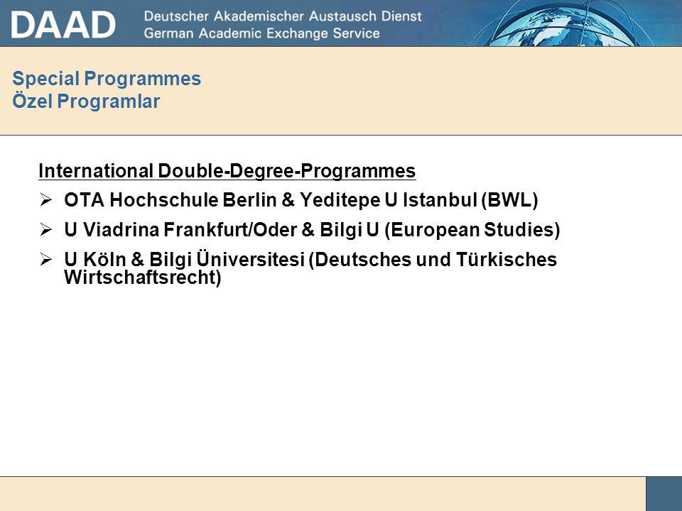 Special Programmes Özel Programlar Internationalization  Cooperation programme in Social Sciences HU Berlin & METU  Cooperation programme in Europea
