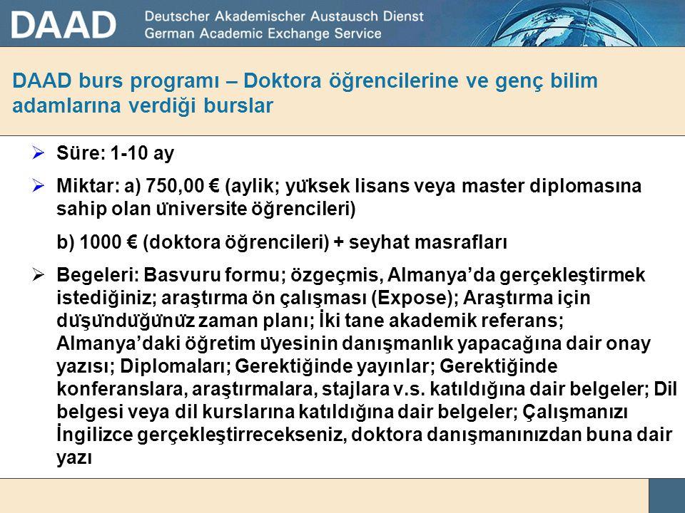 DAAD burs programı – Master Bursu http://ic.daad.de/ankara/tr/10357/index.html