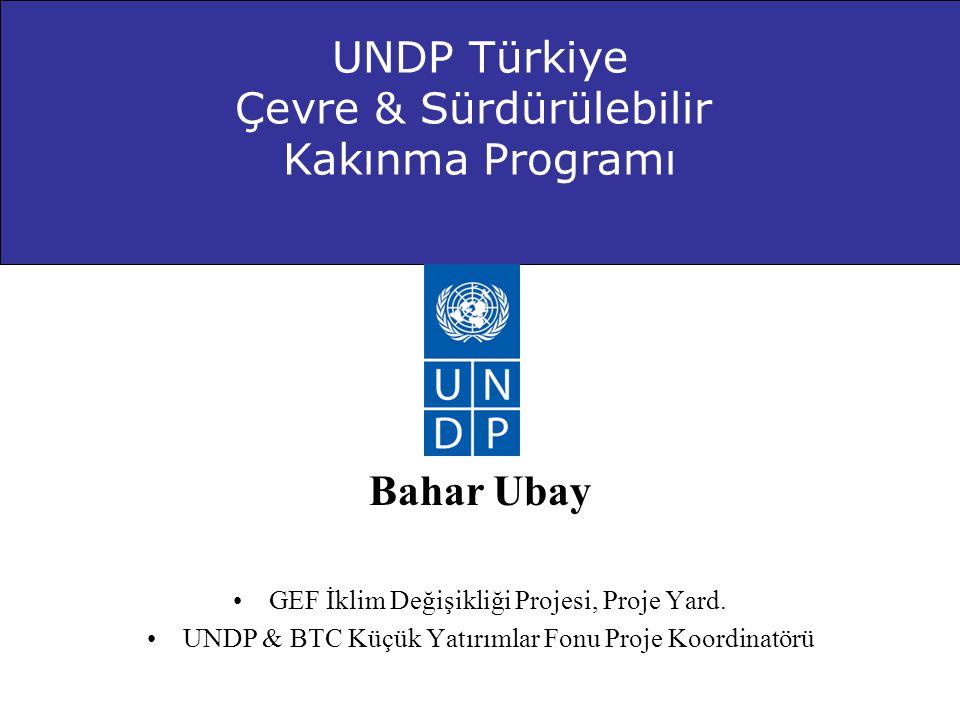 Bahar Ubay •GEF İklim Değişikliği Projesi, Proje Yard. •UNDP & BTC Küçük Yatırımlar Fonu Proje Koordinatörü UNDP Türkiye Çevre & Sürdürülebilir Kakınm