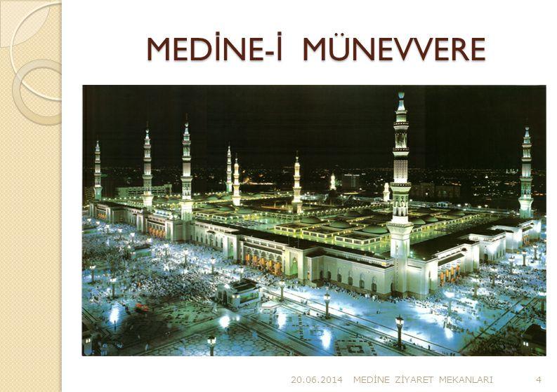 20.06.2014MED İ NE Z İ YARET MEKANLARI25 MESC İ D- İ NEB İ (3) Peygamber(s.a) bizzat kendisi cami yapımında çalıştı.Kerpiç ve taş taşıdı.