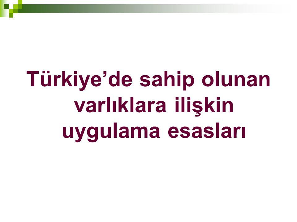 Türkiye'de sahip olunan varlıklara ilişkin uygulama esasları