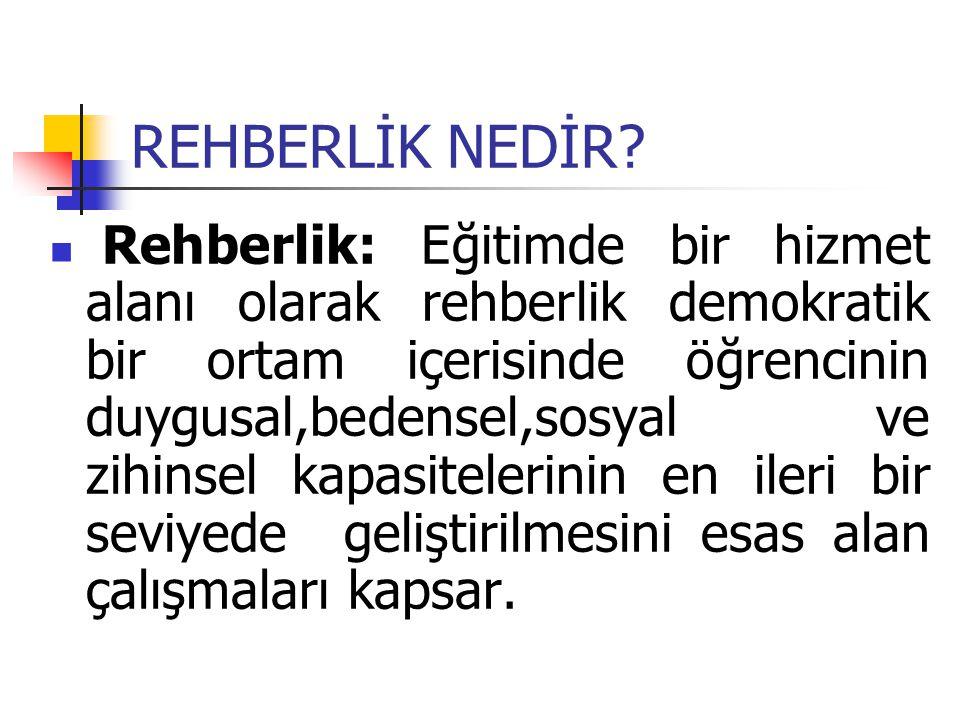 REHBERLİĞİN ORTAYA ÇIKMASINI GEREKTİREN GELİŞMELER 1.