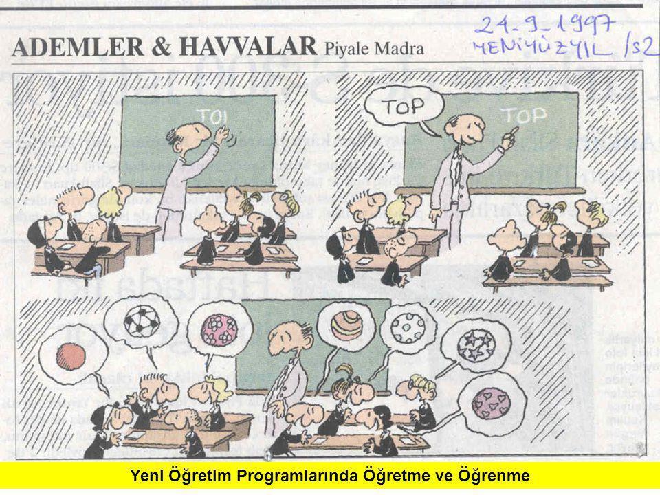 Yeni Öğretim Programlarında Öğretme ve Öğrenme