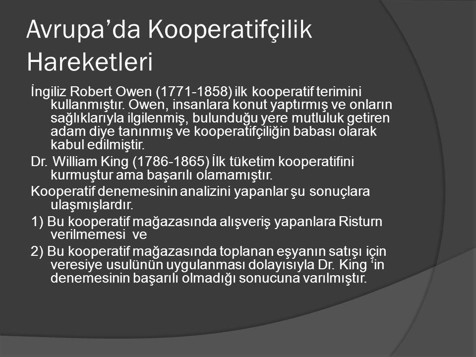 Kooperatifin diger idari personeli Müdür ve idari personel mekanizması her kooperatifte olmayabilir.